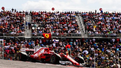Kimi Räikkönen, a los mandos del Ferrari