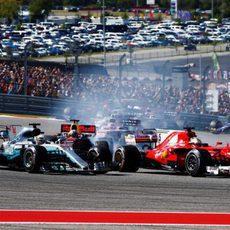 Salida del GP de Estados Unidos 2017