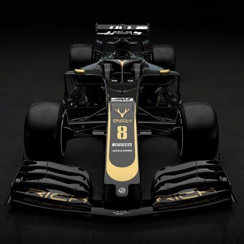 Frontal del monoplaza de Haas: VF-19