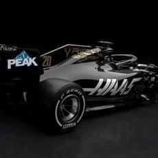 Parte trasera del monoplaza de Haas: VF-19