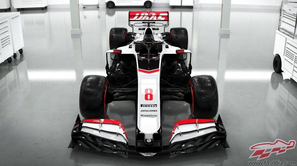 Frontal del monoplaza de Haas: VF-20