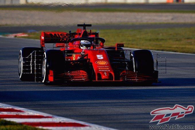 Sebastian Vettel, a punto para rodar