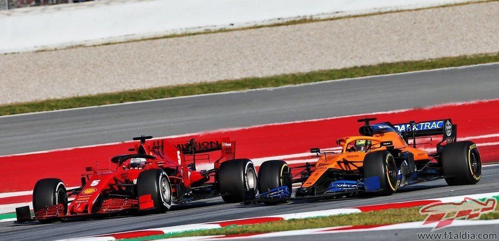 Vettel VS Norris
