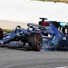 Pasada ligera de Lewis Hamilton