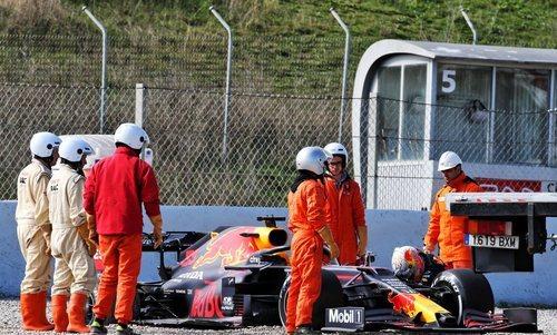 Verstappen también tuvo algún problema