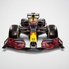 Vista frontal del RB16B