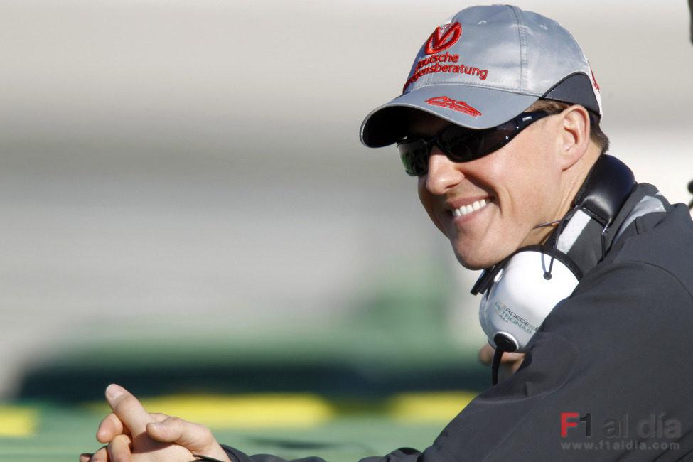 Schumacher disfruta de la mañana