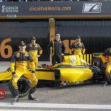 Boullier con sus pilotos