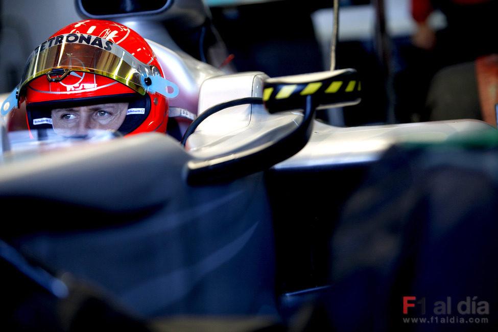 Schumacher regresa a la acción