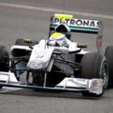 Rosberg con el W01 en Jerez