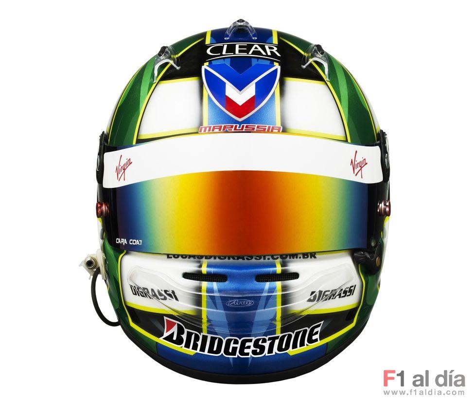 El nuevo casco de Lucas di Grassi