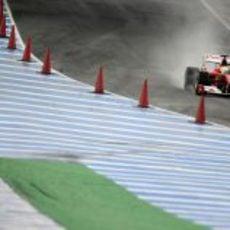 Felipe sale del 'pit-lane'