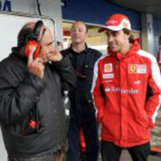 Emilio Botín y Fernando Alonso