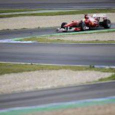 Felipe con toda la pista por delante