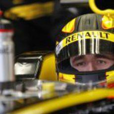 Kubica con su nuevo casco