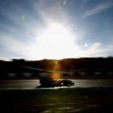 El amanecer ilumina a Webber