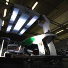 El VJM03 en el garaje