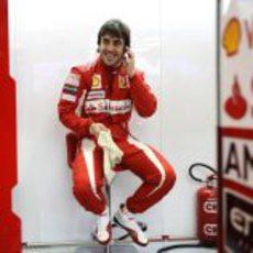 Fernando es feliz en Ferrari
