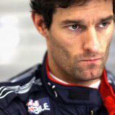Webber muy serio