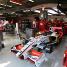 El garaje de Force India