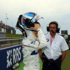 Heidfeld se prepara para la carrera