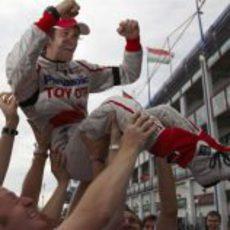 Trulli celebra su tercer puesto