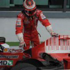 El agujero del Ferrari de Raikkonen