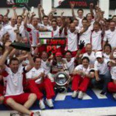 En Toyota también celebran el tercer puesto