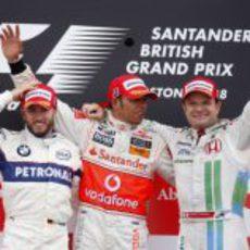 Heidfeld, Hamilton y Barrichello