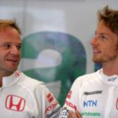 Barrichello y Button