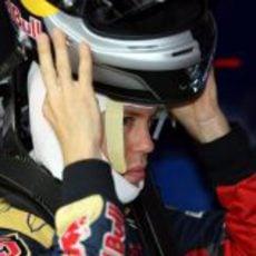 Sebastian Vettel en Silverstone