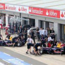 Los mecánicos de Red Bull