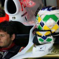 Fisichella pensativo en su Force India