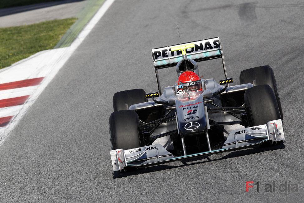 Schumacher no está contento con el W01