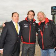 Carlos Gracia, Andy Soucek y Richard Branson