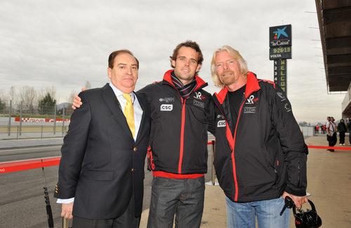 Carlos Gracia, Andy Soucek y Richard Branson