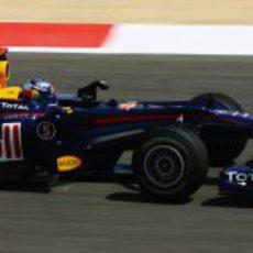 Vettel rueda en Shakir