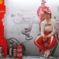 Alonso en su primer GP con Ferrari