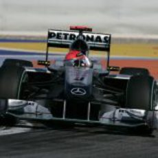 Schumacher en su regreso a las carreras
