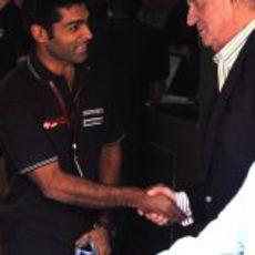Chandhok saluda a Don Juan Carlos I