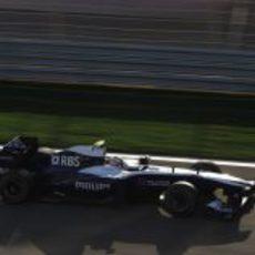 Nico acabó su primera carrera con Williams