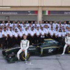 Foto de familia de Lotus Racing