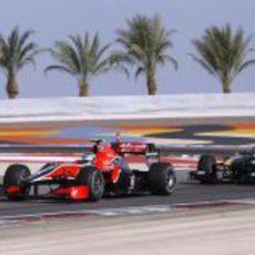 Di Grassi delante de Trulli