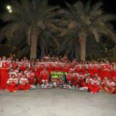 Ferrari celebra el triunfo