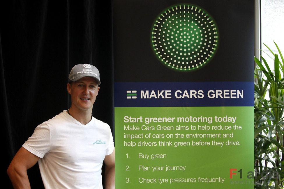 'Make cars green' Schumacher