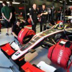 Senna en el box