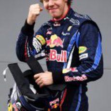 Sebastian Vettel, contento con la pole en Australia 2010