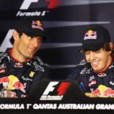 Sebastian Vettel se venga de Mark Webber en Australia
