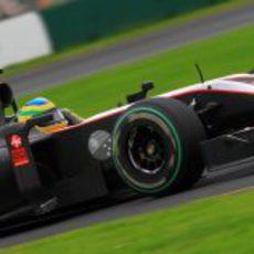 Bruno confía en acabar su primera carrera en la F1