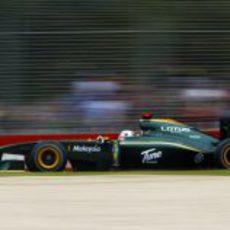 Jarno Trulli con el Lotus en Melbourne
